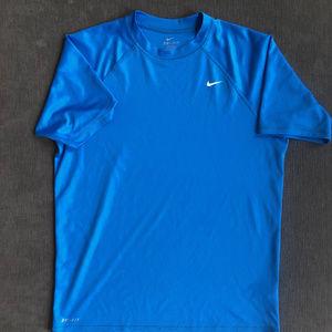Nike Men's Blue Dri-Fit T-Shirt - Medium